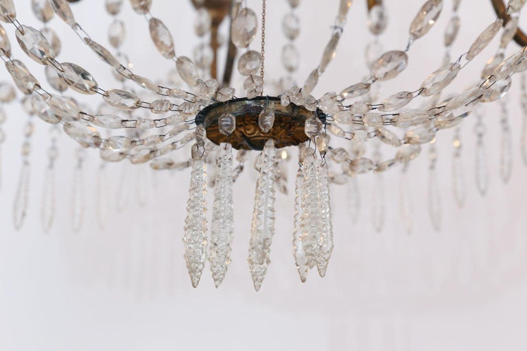 Large-Scale Neoclassical Chandelier In Good Condition For Sale In Houston, TX