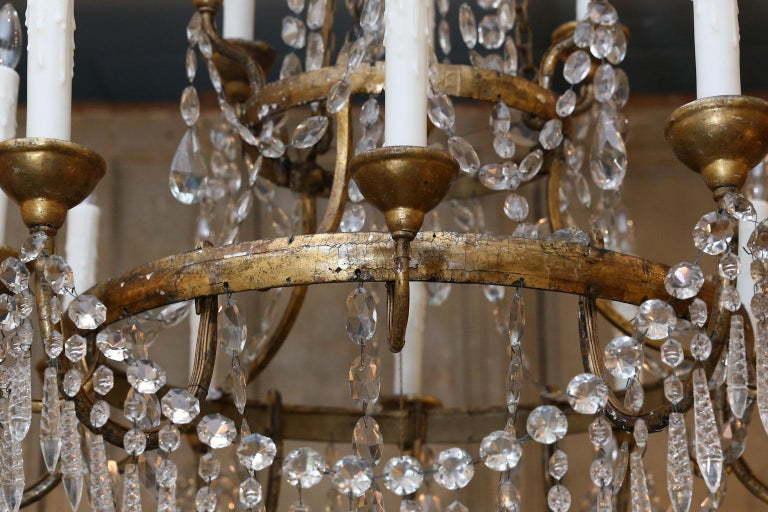 19th Century Large-Scale Neoclassical Chandelier For Sale