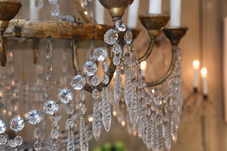 Crystal Large-Scale Neoclassical Chandelier For Sale
