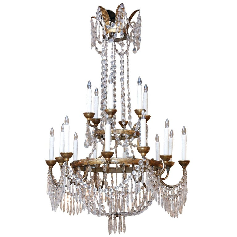 Large-Scale Neoclassical Chandelier For Sale