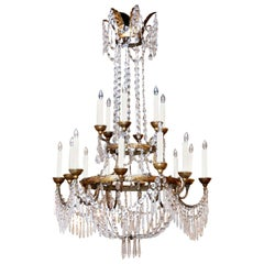 Large Scale Neoclassical Chandelier