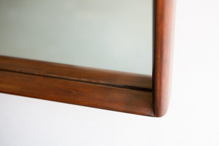 Mid-Century Modern Large Scale Newly Restored T.H. Robsjohn Gibbings Mirror For Sale