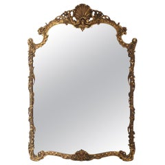 Large Scale Ornate Gilt Mirror