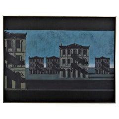 Large Scale Painting Cityscape Pop Art 'Autograph', John Gregoropoulos, 1975