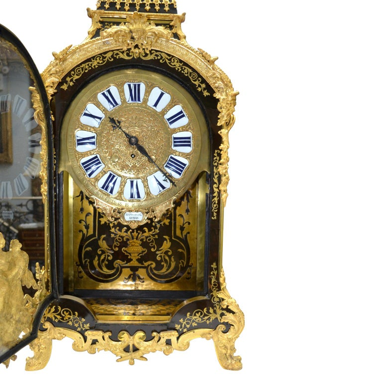 Large Scale Period Louis XIV Boulle Cartel Clock with Matching Plinth/Bracket For Sale 6