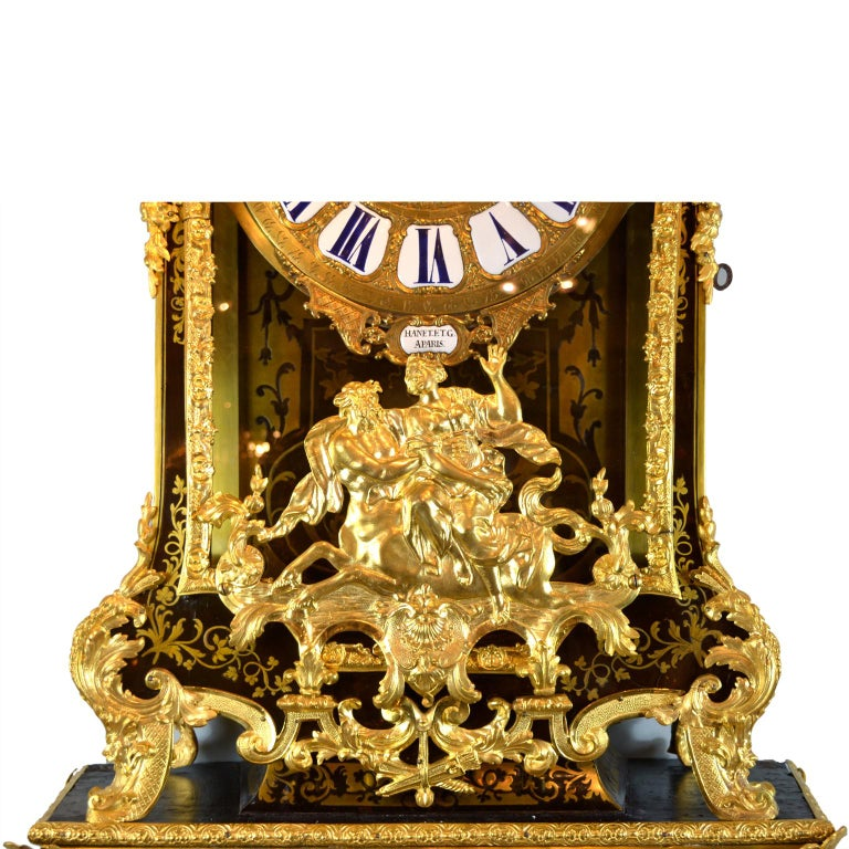 Large Scale Period Louis XIV Boulle Cartel Clock with Matching Plinth/Bracket For Sale 1