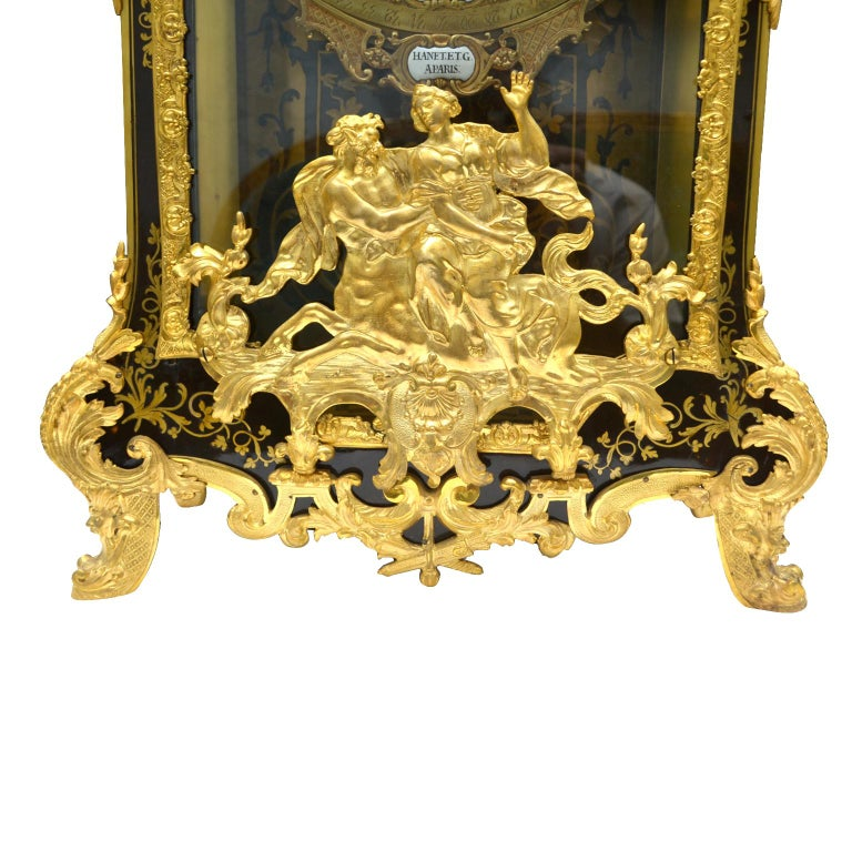 Large Scale Period Louis XIV Boulle Cartel Clock with Matching Plinth/Bracket For Sale 2