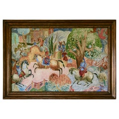 Large-Scale Persian Hunt Painting