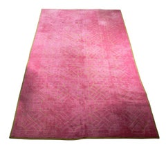 Large Scale Pink and Green Edward Fields Carpet