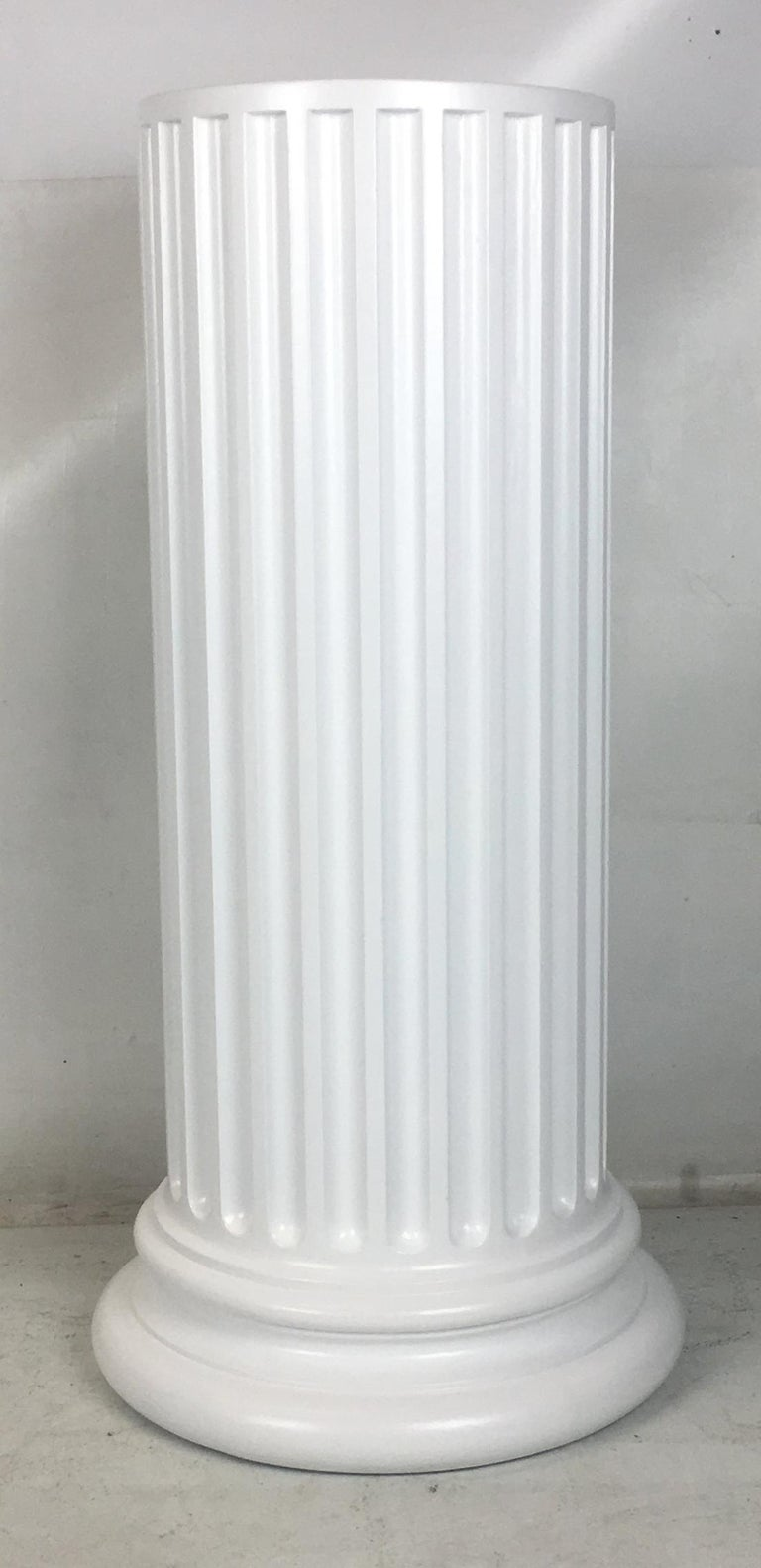 Neoclassical Large Scale Plaster Ionic Column Pedestal For Sale
