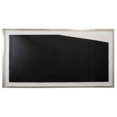 "Large Scale Richard Serra, ""Rosa Parks"" 3 Color Screenprint with Paint Stick"