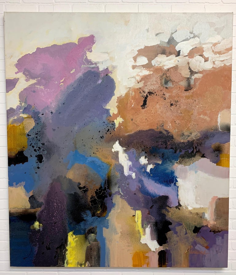 Large-Scale Signed Abstract Painting, 1970s For Sale 3