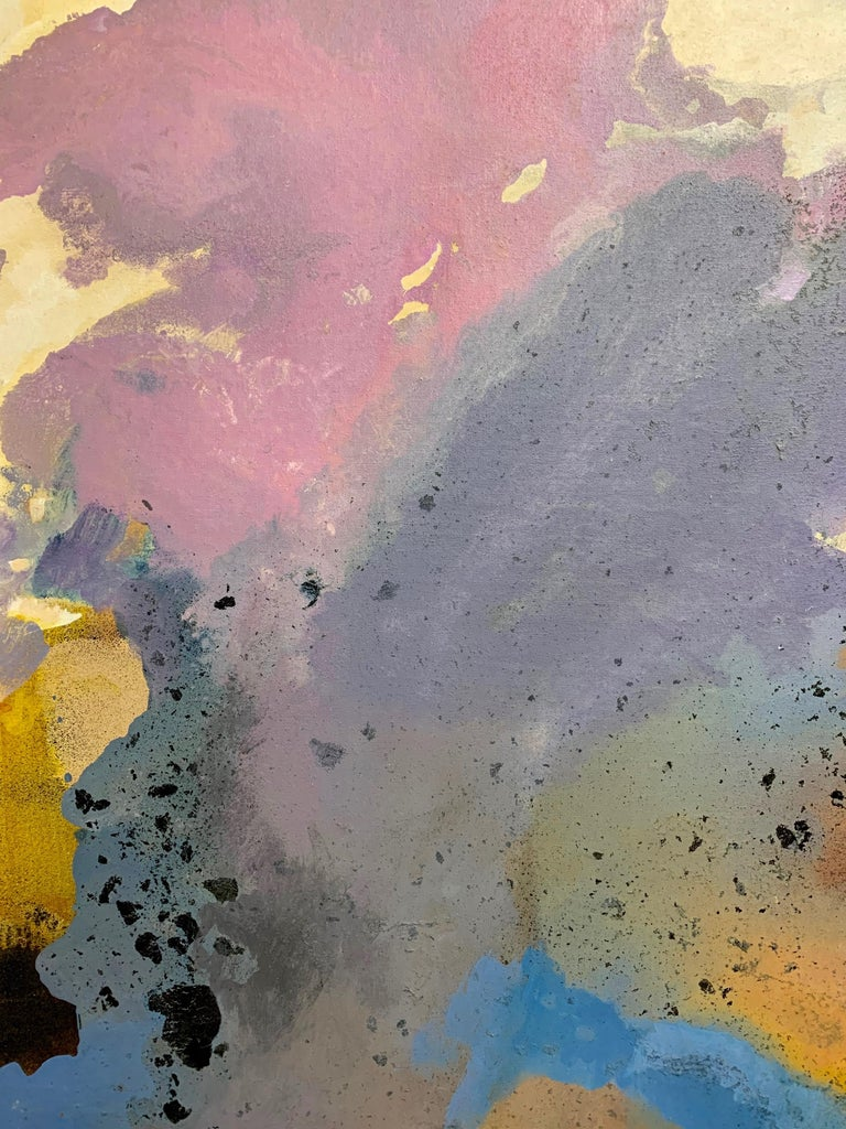 Large-Scale Signed Abstract Painting, 1970s In Good Condition For Sale In Laguna Hills, CA
