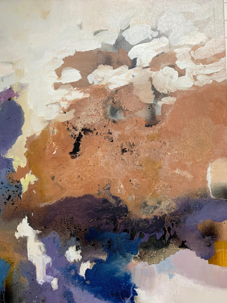 Large-Scale Signed Abstract Painting, 1970s For Sale 1