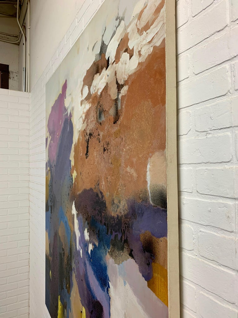 Large-Scale Signed Abstract Painting, 1970s For Sale 2