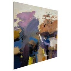 Large-Scale Signed Abstract Painting, 1970s