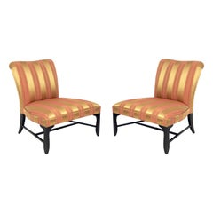 Large Scale Slipper Chairs by Thomas Pheasant for Baker