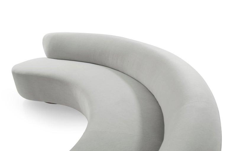 Large Scale Sofa in Grey Alpaca Velvet by Vladimir Kagan For Sale 3