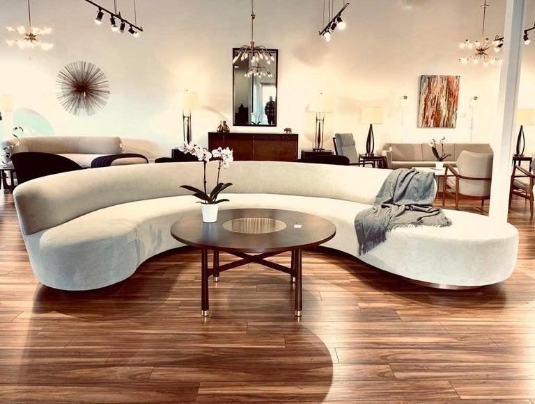 Large Scale Sofa in Grey Alpaca Velvet by Vladimir Kagan For Sale 6