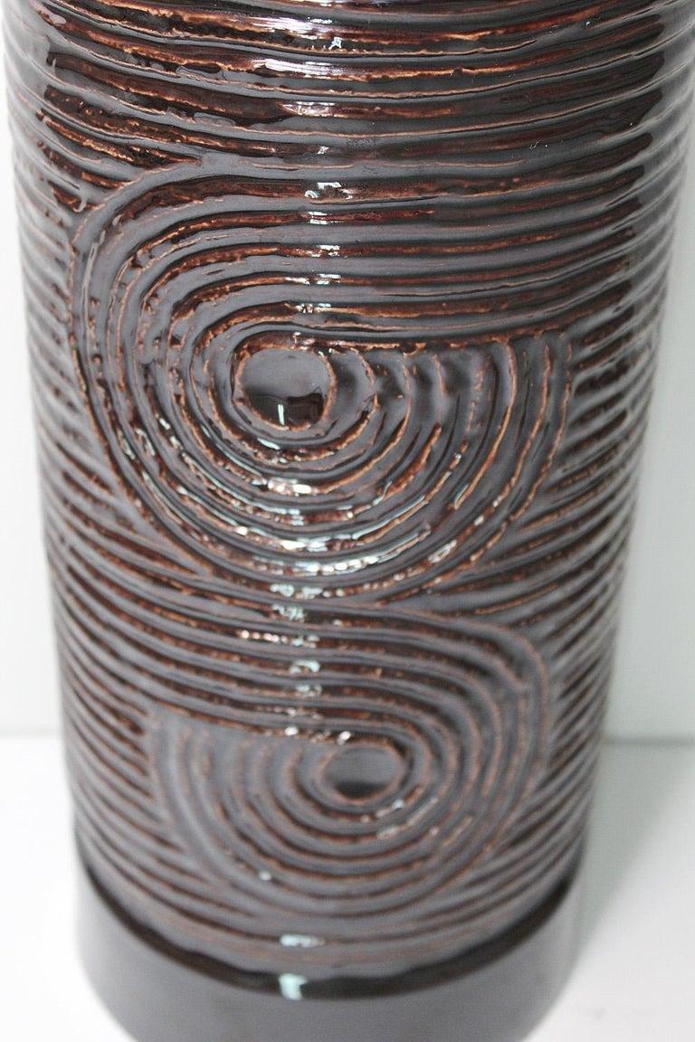 Large Scale Swedish Gustavsberg Stoneware Vase, Britt-Louise Sundell, circa 1965 In Good Condition For Sale In North Miami, FL