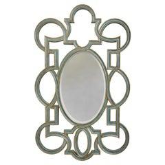 Large Scale Vintage Open Fretwork Framed Oval Mirror