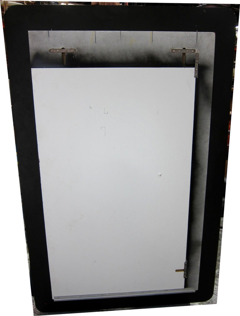 American Large Scale Wall Mirror on Mirror in the Style of Fontana Arte For Sale