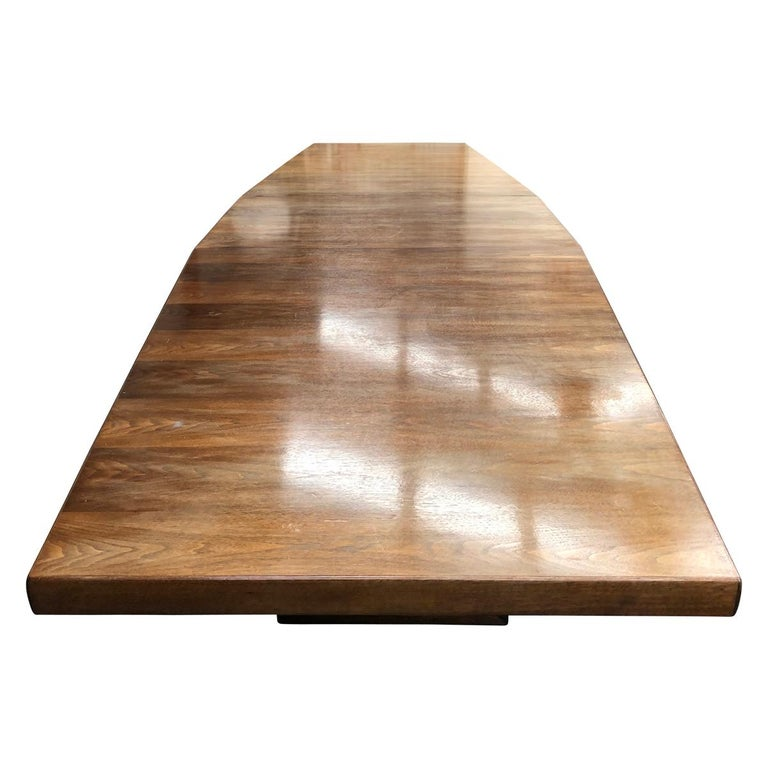 Large Scandinavian Conference or Dining Table, circa 1960 For Sale 2