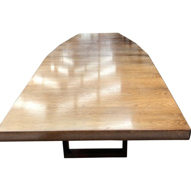 Large Scandinavian Conference or Dining Table, circa 1960 For Sale 3
