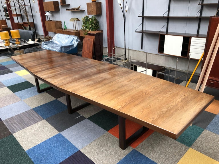 Large Scandinavian Conference or Dining Table, circa 1960 For Sale 4