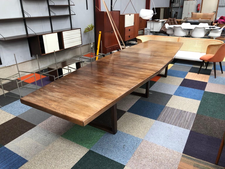 Large Scandinavian Conference or Dining Table, circa 1960 For Sale 5