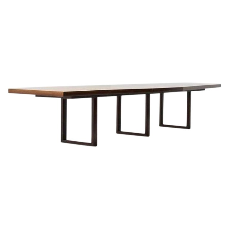Scandinavian Modern Large Scandinavian Conference or Dining Table, circa 1960 For Sale
