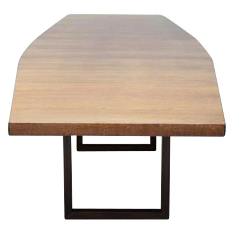 Veneer Large Scandinavian Conference or Dining Table, circa 1960 For Sale