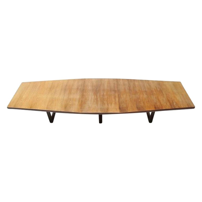 Large Scandinavian Conference or Dining Table, circa 1960 In Fair Condition For Sale In Pijnacker, Zuid-Holland