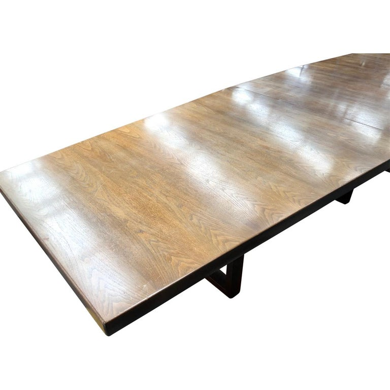 Hardwood Large Scandinavian Conference or Dining Table, circa 1960 For Sale
