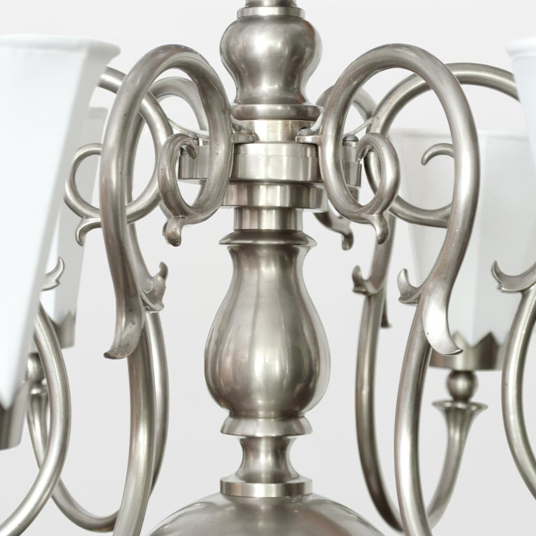 20th Century Large 1920's Scandinavian Modern Chandelier with 12 arms made by Svenskt Tenn For Sale