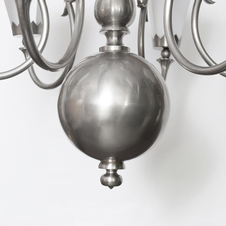 Large 1920's Scandinavian Modern Chandelier with 12 arms made by Svenskt Tenn For Sale 2