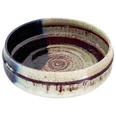 Large Scandinavian Modern Rorstrand Studio Ceramic Bowl by Sylvia Leuchovius