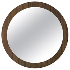 Large Scandinavian Teak Wall Mirror, 1960s