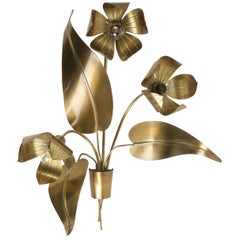Large Sconce Bouquet of Flowers, Maison FlorArt, 1960