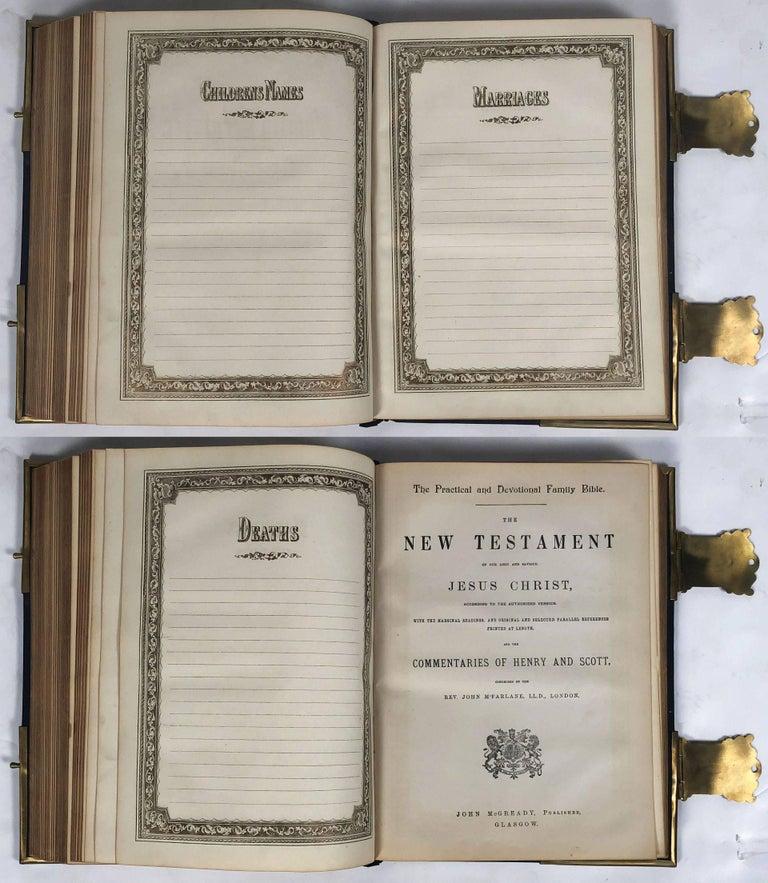 Large Scottish Holy Bible with Clasps from the 19th Century For Sale 6