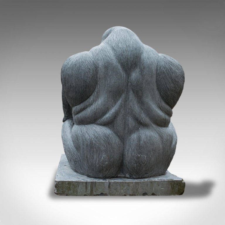 Carved Large Sculptural Artwork Marble Statue Shabani Lowland Gorilla by Dominic Hurley For Sale