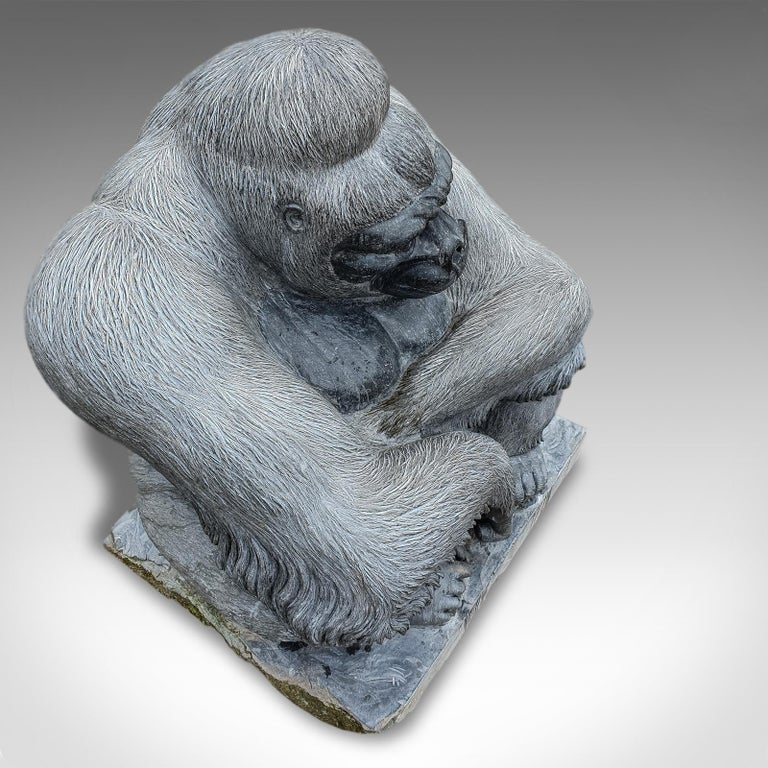 Large Sculptural Artwork Marble Statue Shabani Lowland Gorilla by Dominic Hurley In New Condition For Sale In Hele, Devon, GB