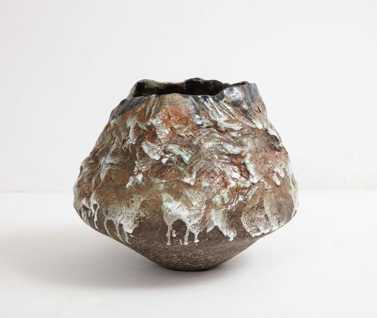 Contemporary Large Sculptural Bowl #2 by Dena Zemsky For Sale