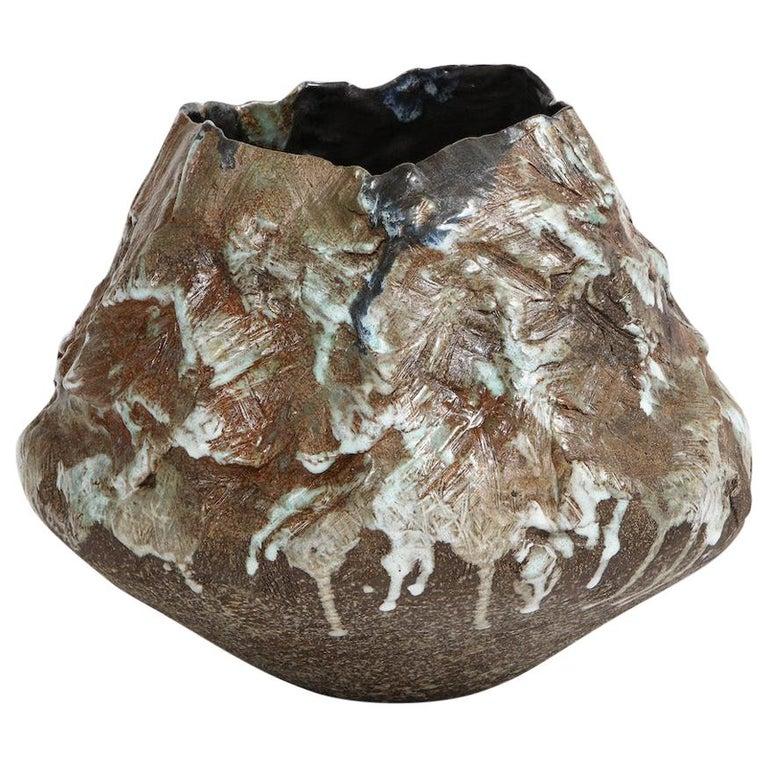 Large Sculptural Bowl #2 by Dena Zemsky For Sale