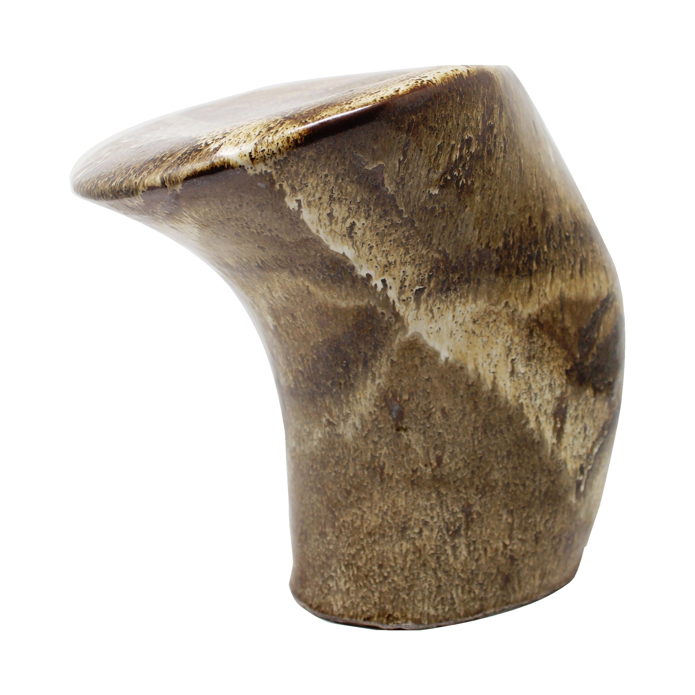 Large Sculptural Ceramic Vase Earth Tones