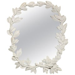 Large Sculptural Leaf Wall Mirror in the Style of Dorothy Draper