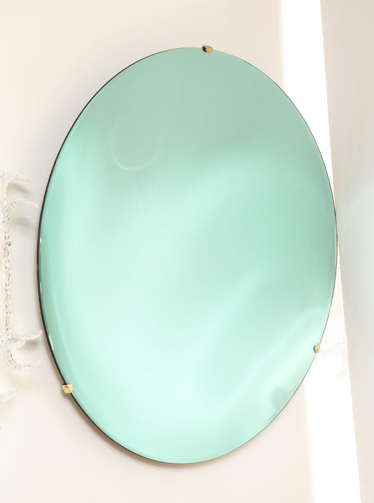 Large Sculptural Round Concave Green