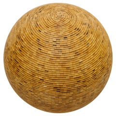 Large Sculptural Sphere Made of Wooden Pieces
