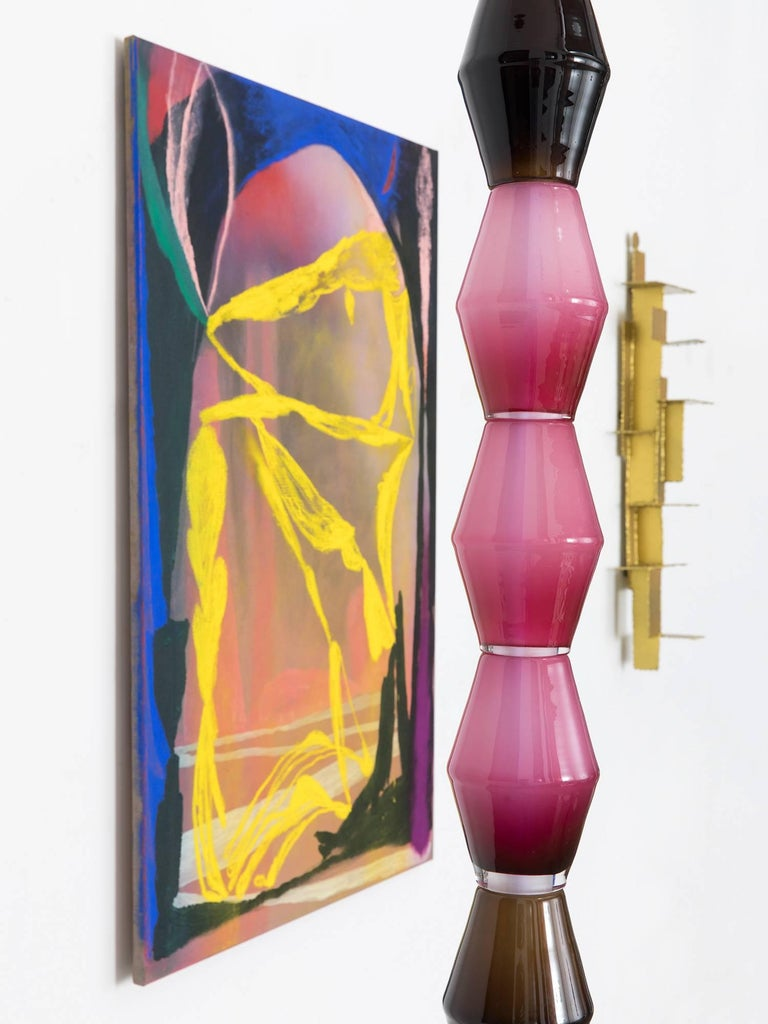 Large Sculptural Stacked Glass