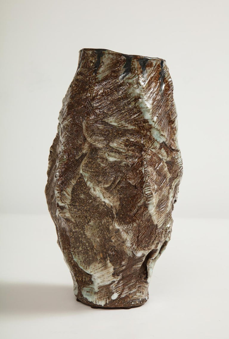 Ceramic Large Sculptural Vase #2 by Dena Zemsky For Sale